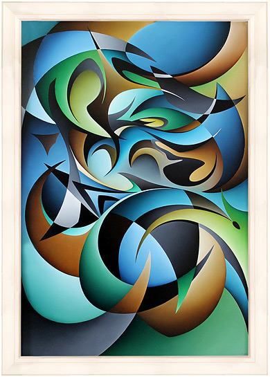 Carl Foster Nz Emerging Artist Abstract 3d Shapes