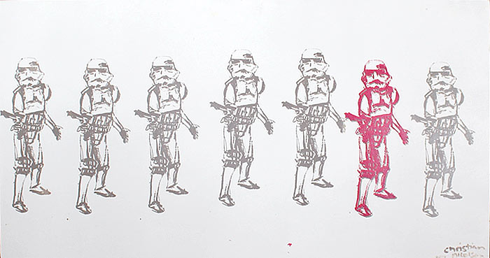 Christian Nicolson nz abstract artist, stormtroopers