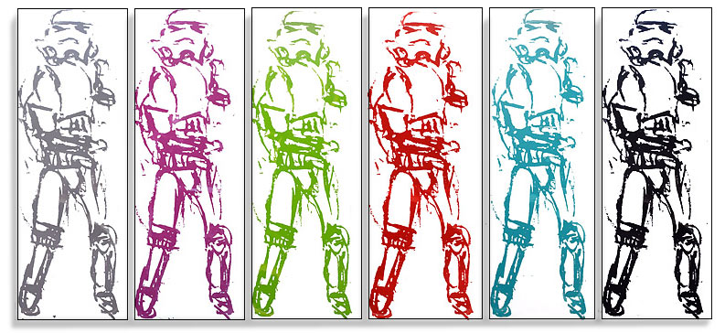 Christian Nicolson nz contemporary artist, stormtroopers