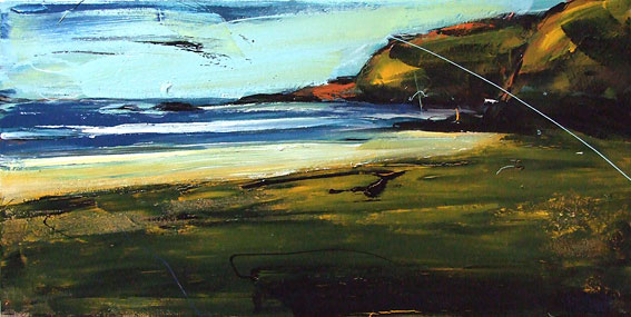 christian nicolson nz abstract artist, colourful landscape, great barrier island