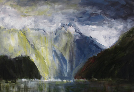 Nigel Wilson NZ landscape artist, Doubtful Sound oil paintings