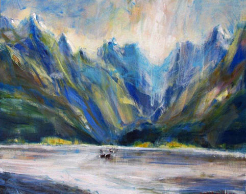 nigel wilson nz landscape artist, central otago oil on canvas