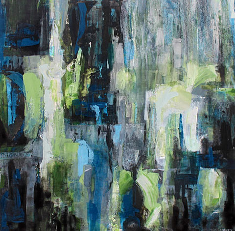 Rosemary Eagles nz abstract landscape artworks, green hue