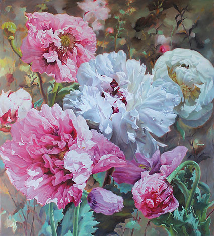 Zoe Feng nz flower and still life art, oil paintings