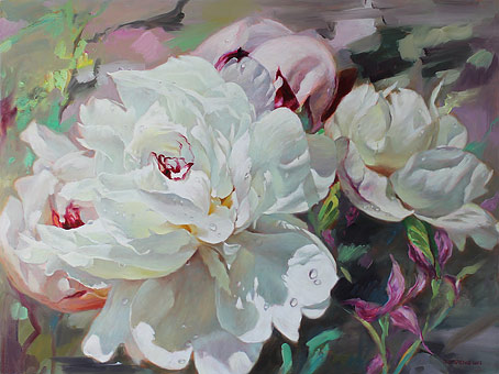 Zoe Feng nz flower fine art oil paintings