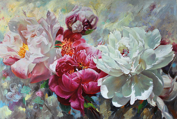 Zoe Feng nz flower artist and oil painter