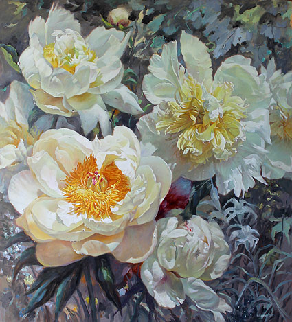 Zoe Feng nz flower artist, oil paintings