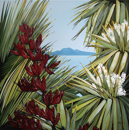 kirsty nixon nz native bush art, hauraki gulf