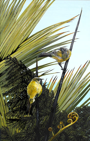 Kirsty Nixon nz bell birds artwork