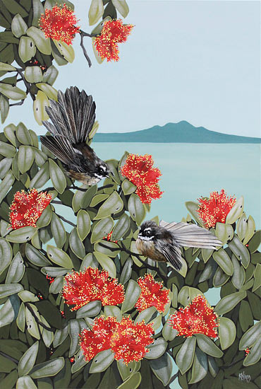 Kirsty Nixon nz birds and landscape art