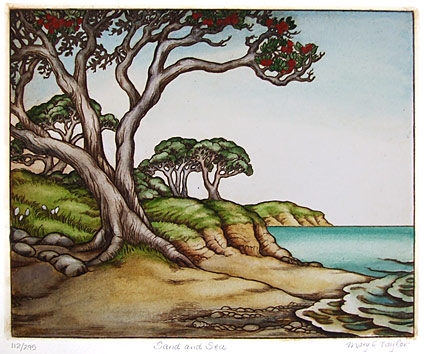 mary taylor nz beach scenes print