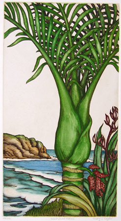 mary taylor nz west coast nikau print